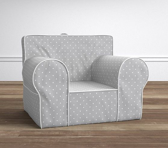 Oversized Gray Pin Dot Anywhere Chair 174 Slipcovers For