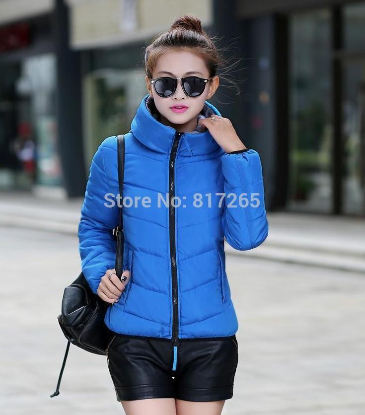 Женская хлопок-ватник куртка с капюшоном зима средний - вниз утолщение Большой размер куртки женские тонкие дамы куртки пальто