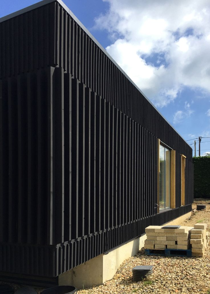 A Forthcoming project by Adrian James Architects. A little black house; every architect should have one.