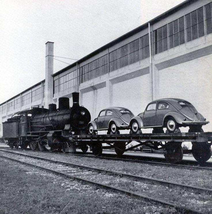 VW Beetle delivey in 1952 in Switzerland