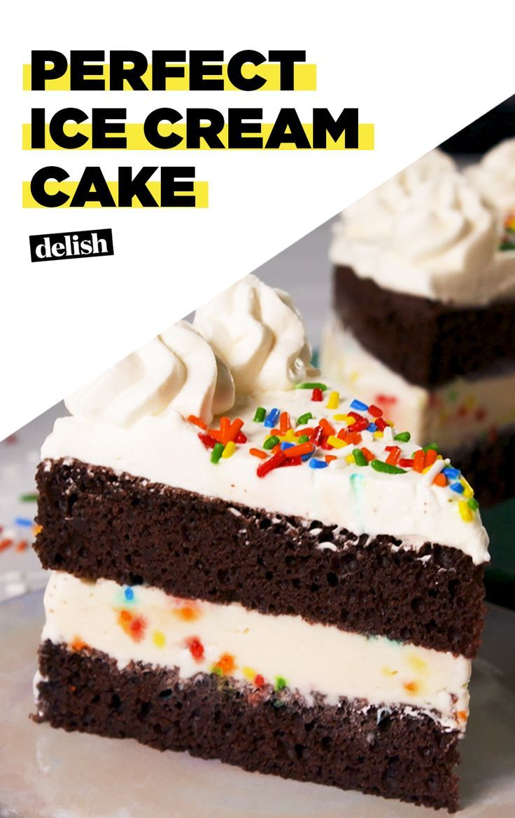 This Ice Cream Cake Is Literally The Emoji In Your Mouth Get The Recipe At Delish Com Rec Easy Ice Cream Cake Homemade Ice Cream Cake Ice Cream Cake Recipe