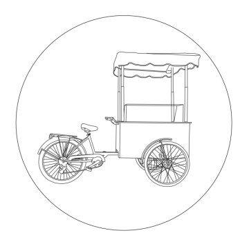 ice cream carts - charrettes à glace - Eisfahrrad - carrito de hellos