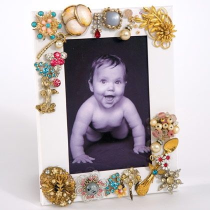 Memory Lane Picture Frame    Use family trinkets and treasured hardware odds and ends to decorate a personalized picture frame and box.