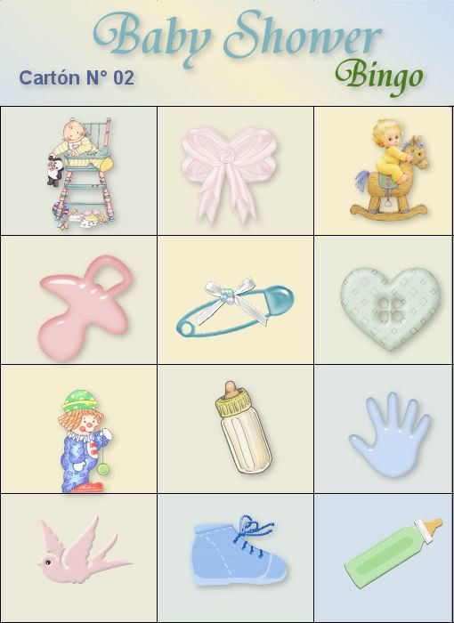17 mejores ideas sobre Bingo De Baby Shower en Pinterest | Juegos ...