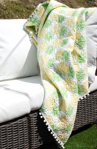 Pineapple Tropical Throw Blanket at Holliday June