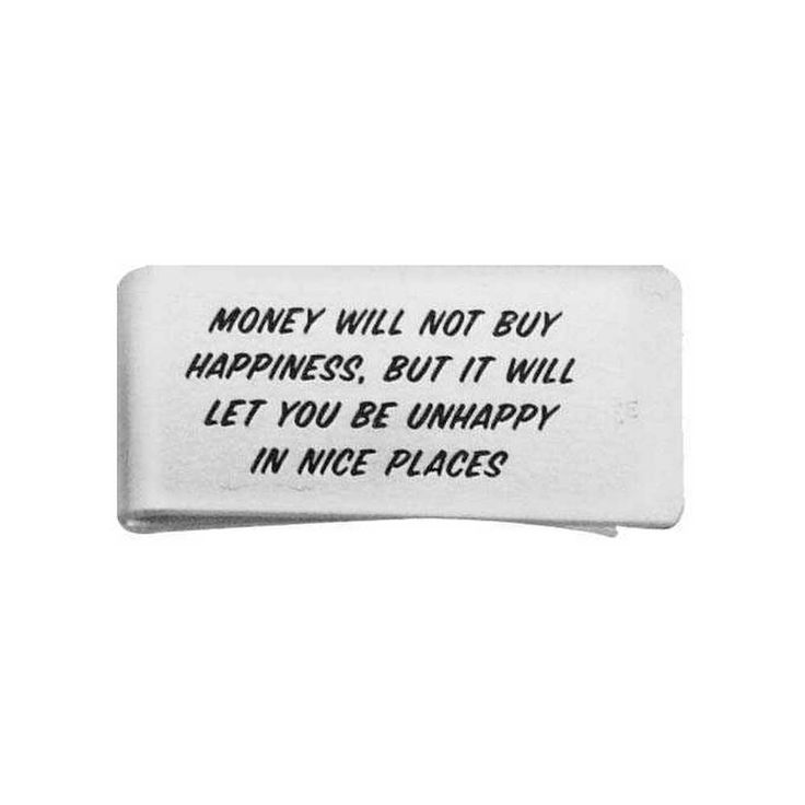 """Money Will Not Buy Money Clip  Crafted of durable aluminum and engraved with clever sentiments these slide-style money clips are sure to keep our money and your sense of humor safe. 2"""" W x .25"""" D  #money #millionaire #business #cash #success  #billionaire #entrepreneurship #hustle #startup #businessman #successful #grind #forex #boss #entrepreneurs #luxurylifestyle #luxurylife #ceo #ambition #motivational #marketing #businesswoman #moneyteam #stocks #invest #dollars #goodlife"""