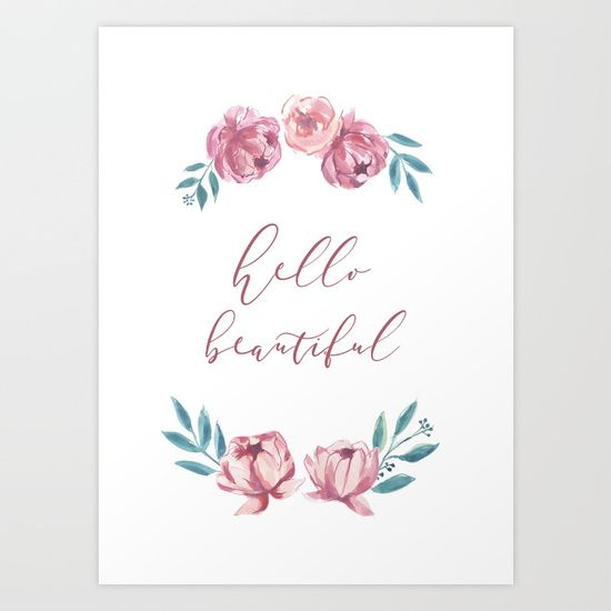 You are Loved // Sarah Jager Design #love #roses #peonies