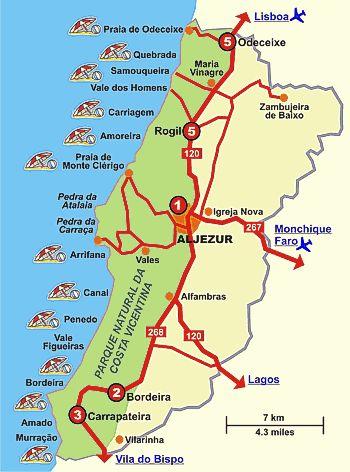 Algarve, Portugal - Aljezur - praias e história