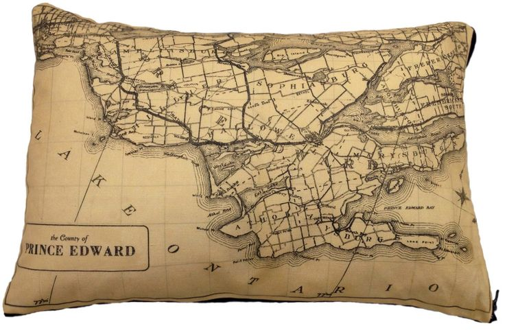 Prince Edward County Vintage Map (ca. 1937) Pillow