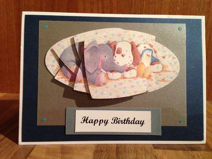 Decoupage (pyramage) birthday card
