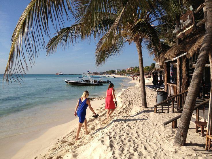 Morning walk. Playa Del Carmen, Mexico. Scott Bergey