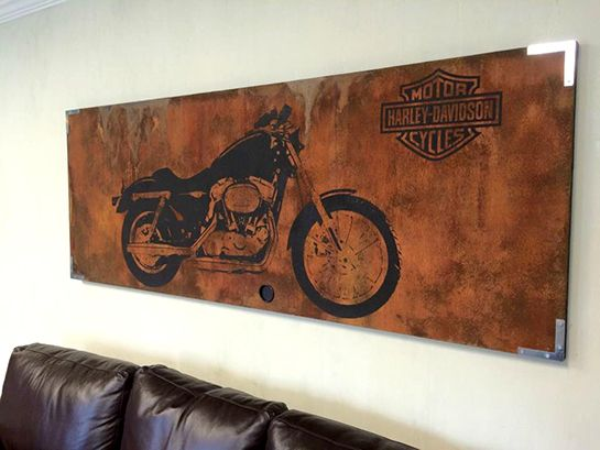 Harley Davidson Canvas Art | Father's Day Ideas | Modern Masters Art Projects Inspiration | Project by Paige Sisk of Beyond Finished