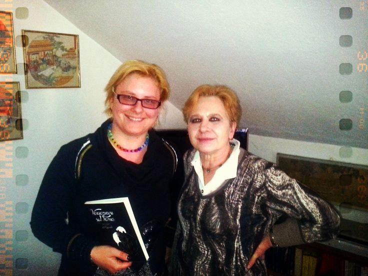 Assieme a Maddy De Scalzi e la Proff.ssa Caracciolo