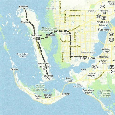 Florida Backroads Travel map of route from Cape Coral to ...