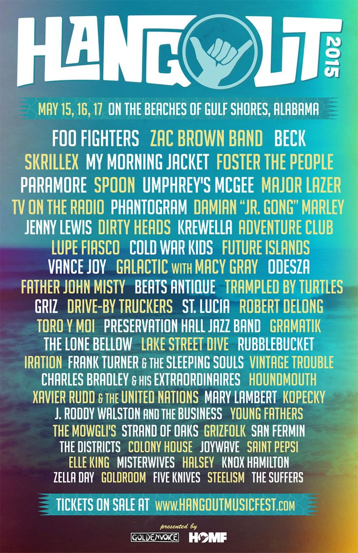 The Hangout Music Fest is back! Come join the fun in #GulfShores on May 15-17, 2015.