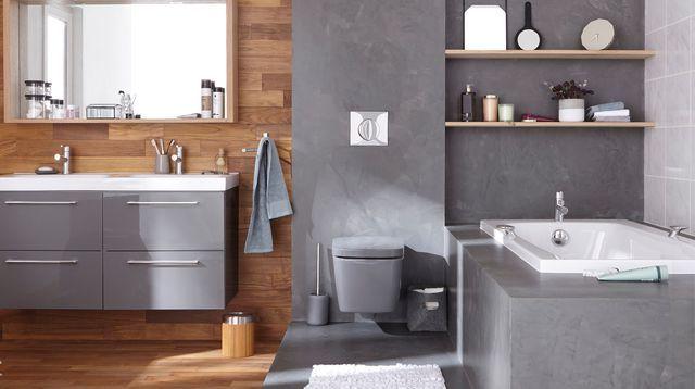 Les 17 meilleures id es de la cat gorie salle de bains - Loft beton cire leroy merlin ...