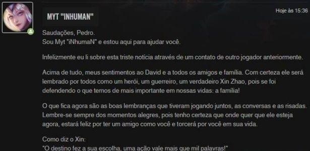 """Jovem morto por padrasto é homenageado por produtora de """"League of Legends"""""""