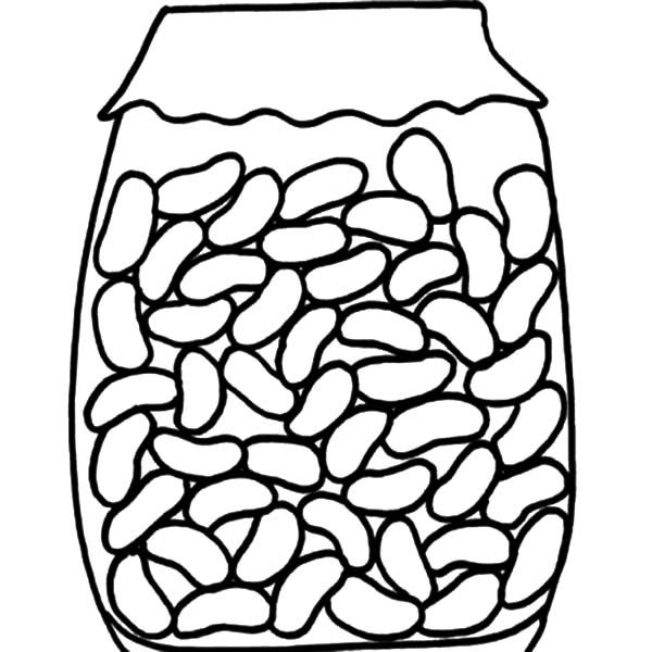 Rice And Beans Coloring Pages Jelly Bean Jar Jelly Beans Coloring Pages For Kids