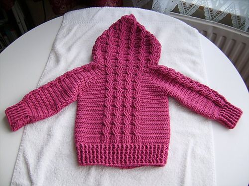 Free Knitting Pattern Baby Cable Cardigan : Ravelry: Hooded Cable Sweater pattern by Agnes Russell a ...
