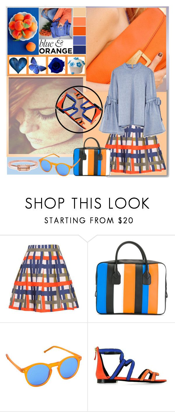"""Blue and Orange"" by ladygroovenyc ❤ liked on Polyvore featuring Comme des Garçons, Pop Fashionwear, Pierre Hardy, Bing Bang, outfitideas and orangeandblue"