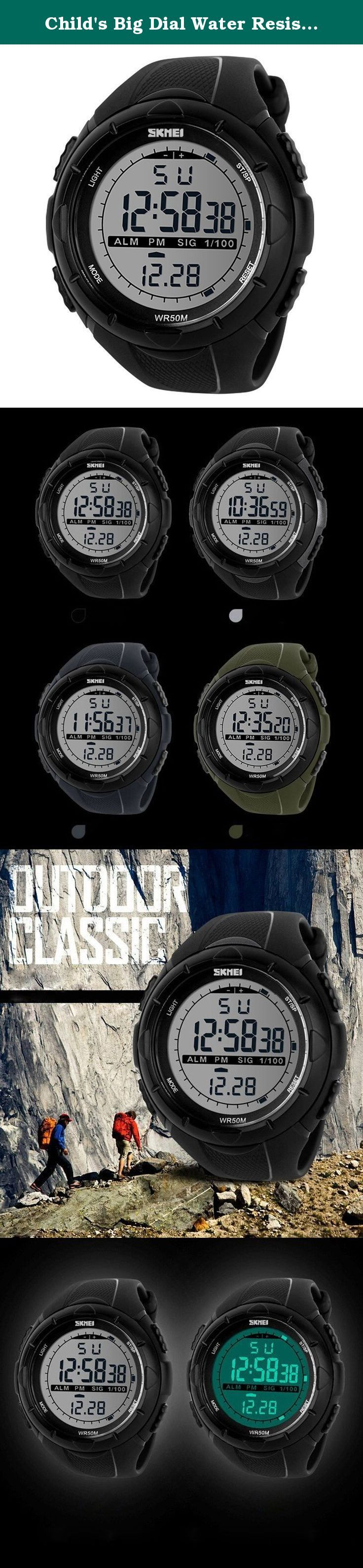 Child's Big Dial Water Resistant Watch Students LED Watches Boys and Girls Sports Wristwatch- Black. A variety of styles you can choose in our store ! Package Included: 1 x Watch Please Note: 1. Actual color may vary from picture due to computer settings. 2. Find store front of Sunny world, more surprises are waiting for you! Dear Buyer, Thanks for your continuous support to our store, and we are always striving to improve ourselves in terms of service, quality, sourcing, etc. It would be...