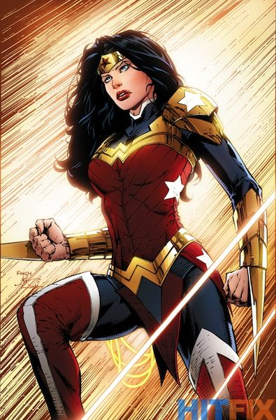 New Wonder Woman outfit. Apart from the obvious (i.e. it looks like something that could be conceivably worn), I really like the bracelet dagger things.