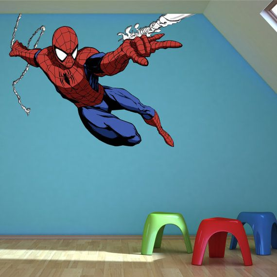 Full Colour Spiderman Wall Sticker Decal Mural Transfer boys bedroom  Graphic 3 on Etsy, $29.28