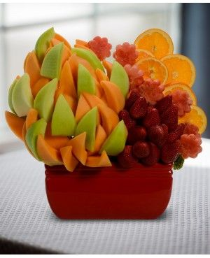 Happy Anniversary Garden Blossom scent free fruit bouquet are great for all occasions and make great gifts ideas or decorations from a proud Canadian Company. Great alternative to traditional flowers or fruit baskets