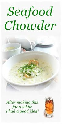 """Seafood Chowder & Pepper """"Wine"""" After this went on the menu there was no going back!  #seafood #soup #recipe"""
