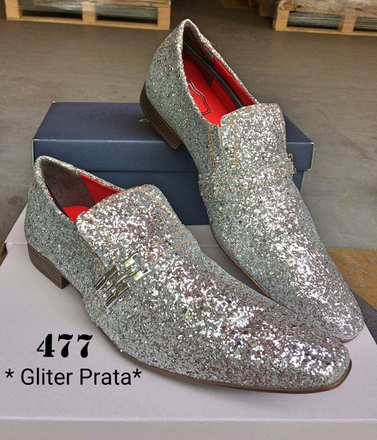 Glitter prata 477   – Sapatos masculinos, femininos e infantis
