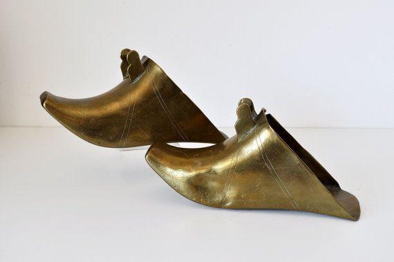 Vintage Pair Brass Conquistador Stirrups Boot by MaudeAndLola