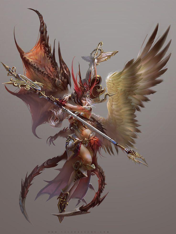 Fallen Angel, character design Atlantis online
