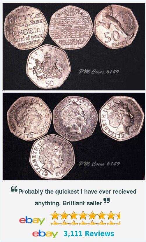 4x Elizabeth II QEII, 50p Fifty pence coins [lot6149] http://www.ebay.co.uk/itm/4x-Elizabeth-II-QEII-50p-Fifty-pence-coins-lot6149-/401101953447?hash=item5d638a19a7
