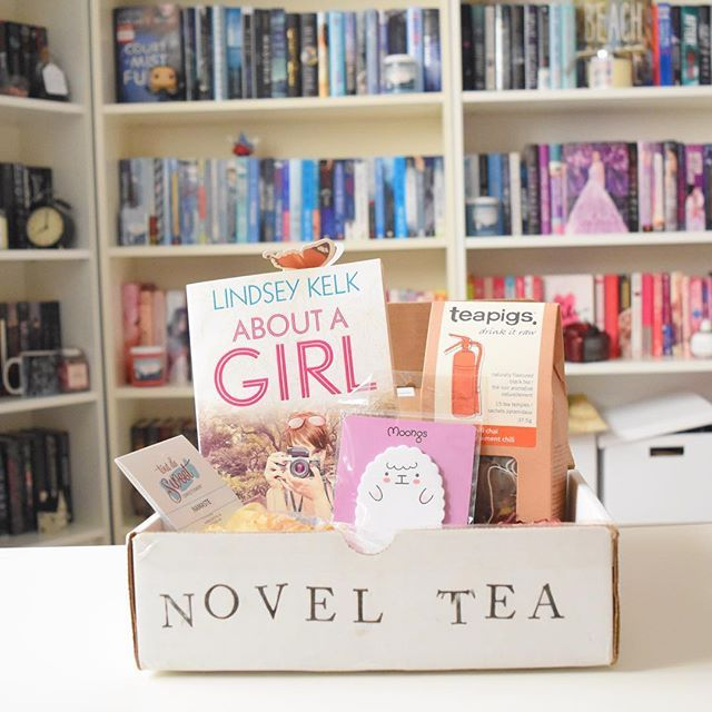 """My May @novelteaclub subscription box has arrived and I'm floating with happiness ☁️ In this Romance box I got: •The cutest Post-it notes • A hand-designed 3D bookmark, yup it's that beautiful butterfly perched on the pages of the book •Marshmallows from Tout de Sweet and there are three kinds. Sweet tea, mango and coconut •A whole bag of Tea Pigs Chili Chai black tea I can't wait to try it out • The book is """"About A Girl"""" by Lindsey Kelk and it sounds like something i would devour in one…"""