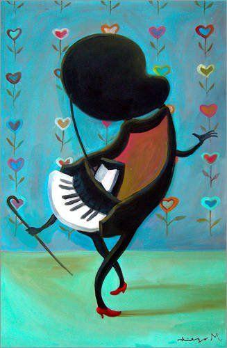 Forex-Platte 80 x 120 cm: Tanzendes Piano von Diego Manuel Rodriguez
