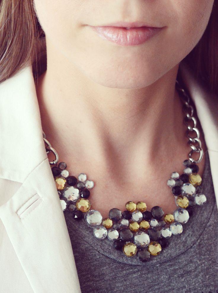 Design Fixation: {Tutorial} DIY Gemstone Necklace