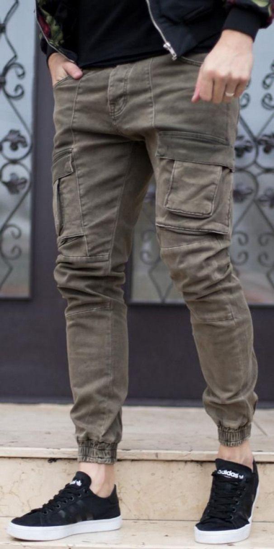 Blugi Military Kaki Cod Jns48 Men Sjoggerpants Men S Jogger Pants Leather Mens Pants Fashion Men Fashion Casual Outfits Mens Fashion Casual Wear