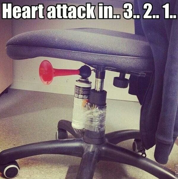 Why didn't I think of this?! #lol #funny #fun #bullhorn #office #prank #pranks #hysterical #scary #sneaky #humor #humorous #rotfl #laugh #laughter