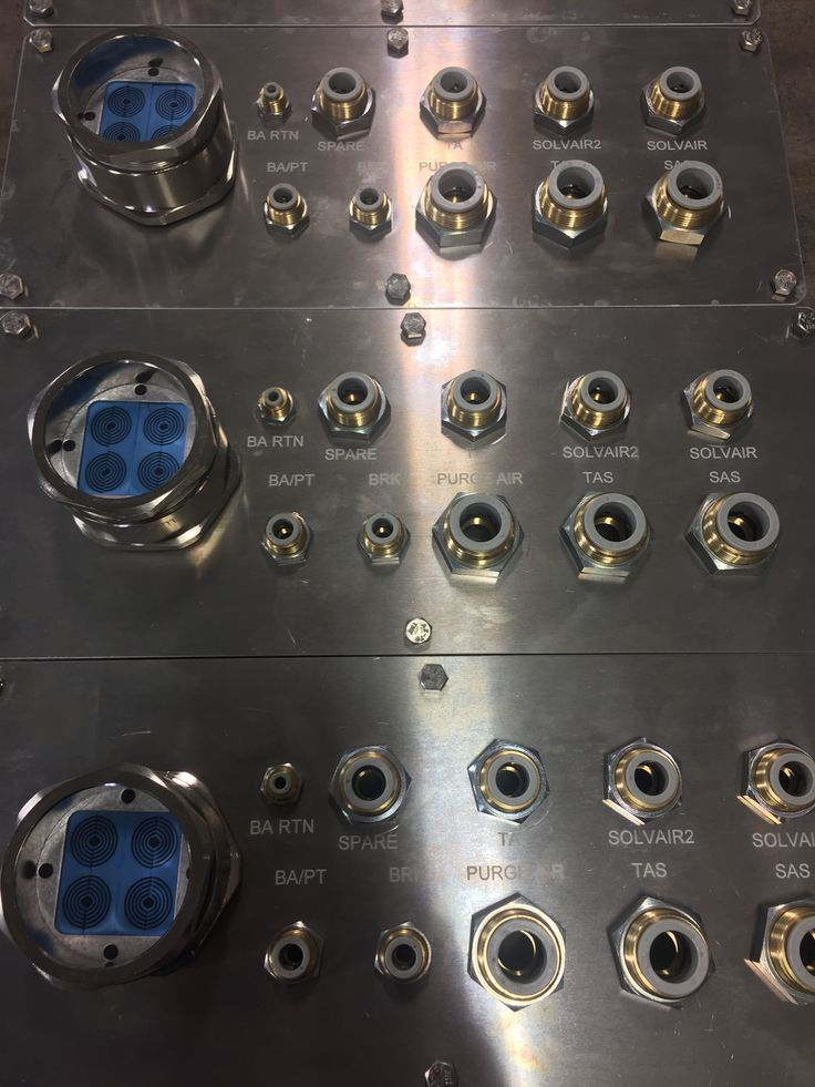 Another penetration plate assembly in a large family that Manutec manufactures and assembles. These plates, along with the others within the family, help separate clean environments from hostile manufacturing ones. #manutec #usmanufacturing #michiganmade #madeinmichigan #madeinusa #madeinamerica #americanmade #automotive #assembly #assemblyline #robot #robotics #robotparts #automation #spraysystem #paintline #waterjet #aluminum #lasermarking #hosefitting