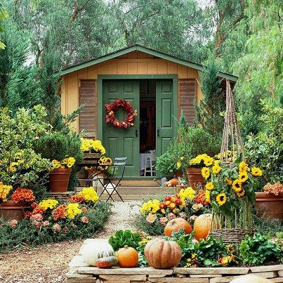 fall...simply LOVE this!!! Would love my shed to look like this!