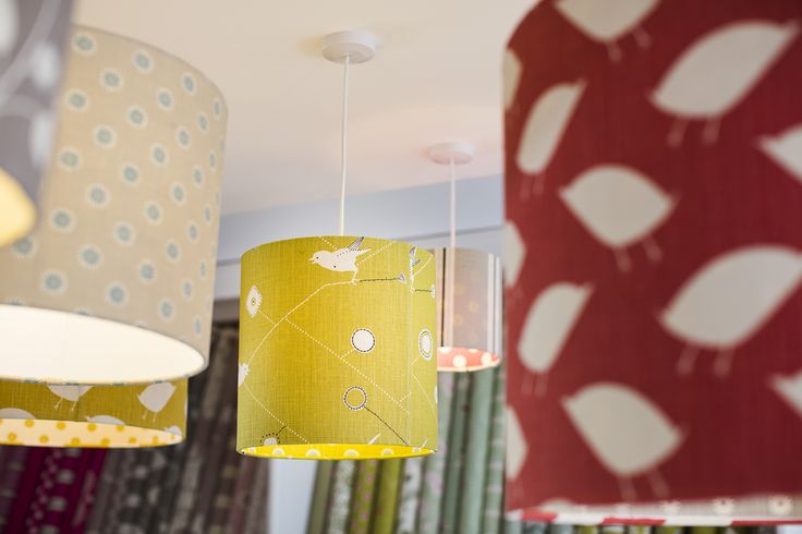 Lampshade display in our Showroom