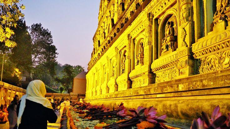 Book online for Buddhist piligrimages, come with us on a divine journey via Varanasi - Sarnath - Bodhgaya - Nalanda - Vaishali - Kushinagar - Sravasti - Lumbini. Click here for details. - http://www.whitemushroomholidays.com/holidays/buddhist-trail/