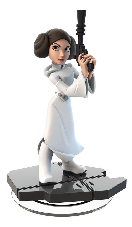Star Wars Comes to Disney Infinity 3.0: Leia is defensive, pensive.