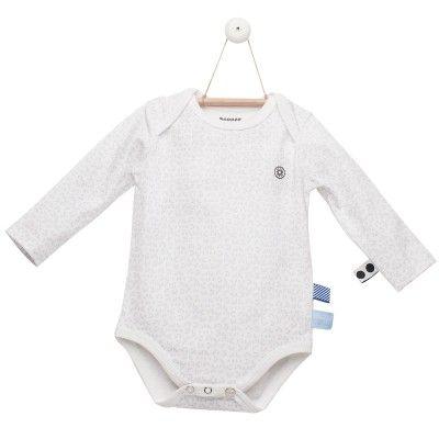 Le body manches longues Light Grey de la marque Snoozebaby pourra se porter en toute saison. Ses étiquettes colorées divertiront bébé.