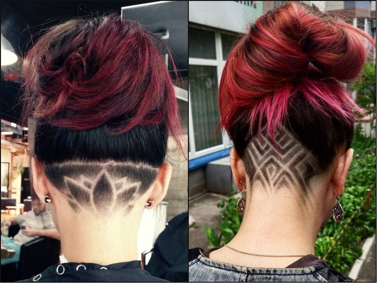 pastel hair and undercuts women's shaved