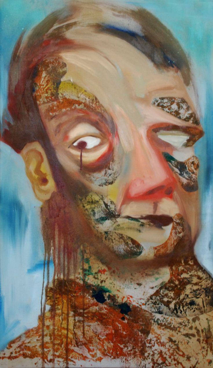 Cybernetic face by David Nemeth (oil on canvas)