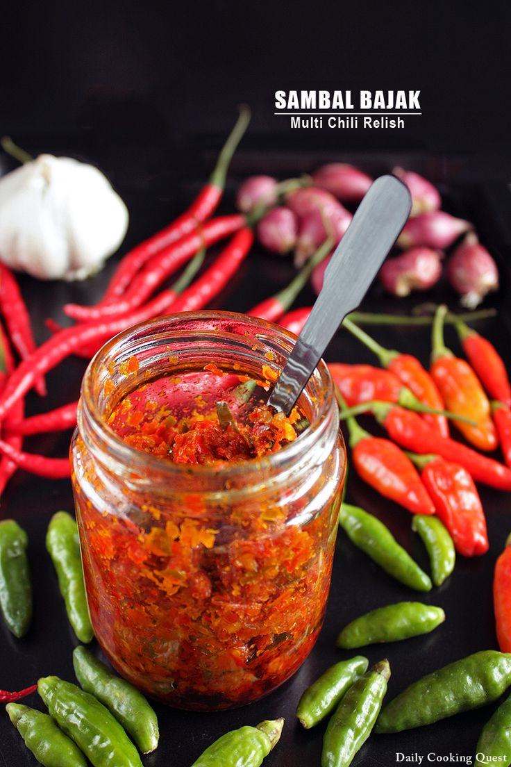 A recipe for Sambal Bajak - Multi Chili Relish