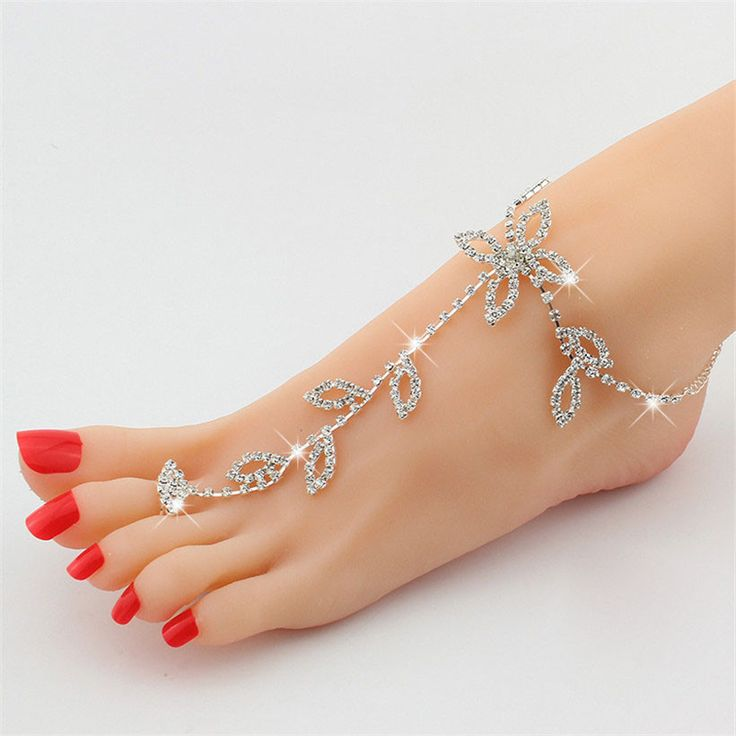 Beach Foot Jewelry Rhinestone Barefoot Sandal Price : $5.48 #barefoot sandals #foot jewelry #barefoot baby sandals #wedding barefoot sandals #barefoot shoes for women #barefoot wedding shoes #beach wedding barefoot sandals #bridal barefoot sandals #foot jewelry for wedding #wedding foot jewelry