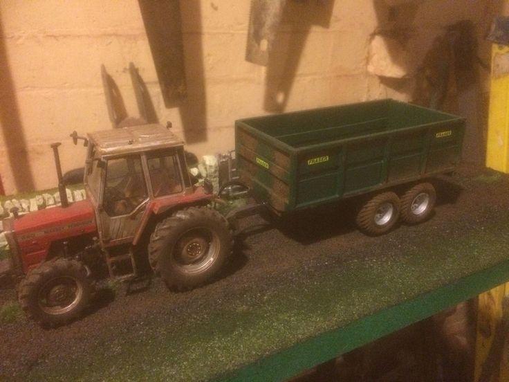 1/32 Britains Scale Scratch Built 12ton Fraser Grain Trailer   eBay