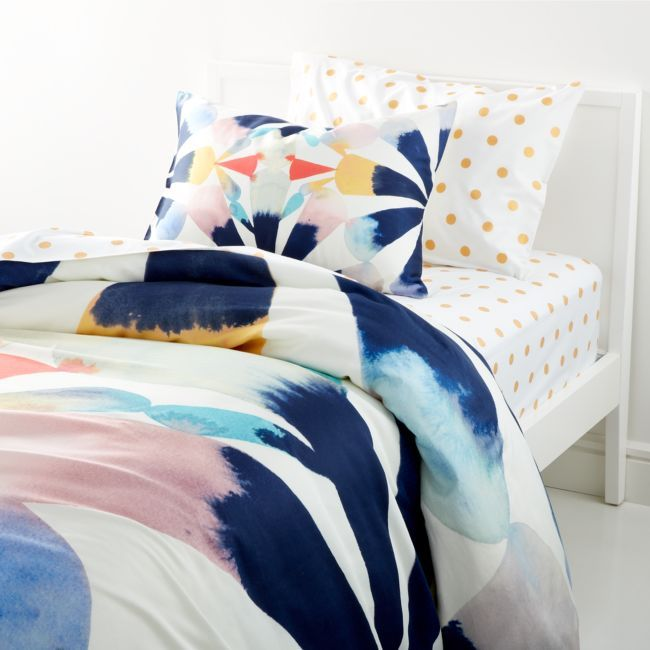 Painted Fan Duvet Cover Crate And Barrel Painted Fan Duvet Covers Twin Queen Duvet Covers